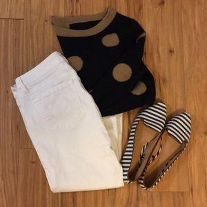 Ann Taylor LOFT White Cropped Skinny Jeans Sz27/4P